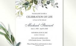 005 Rare Celebration Of Life Invite Template Free Design  Invitation Download