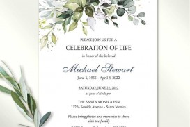 005 Rare Celebration Of Life Invite Template Free Design  Invitation Download