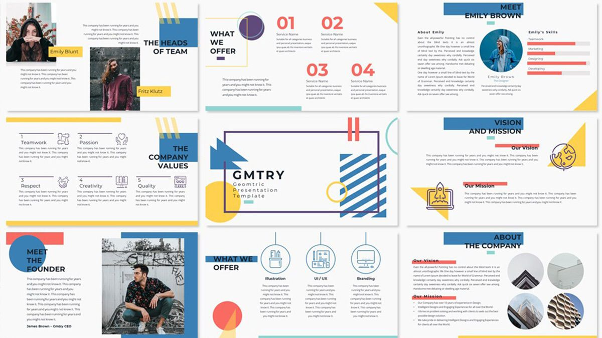 005 Rare Creative Powerpoint Template Free Concept  Download Ppt For TeacherFull