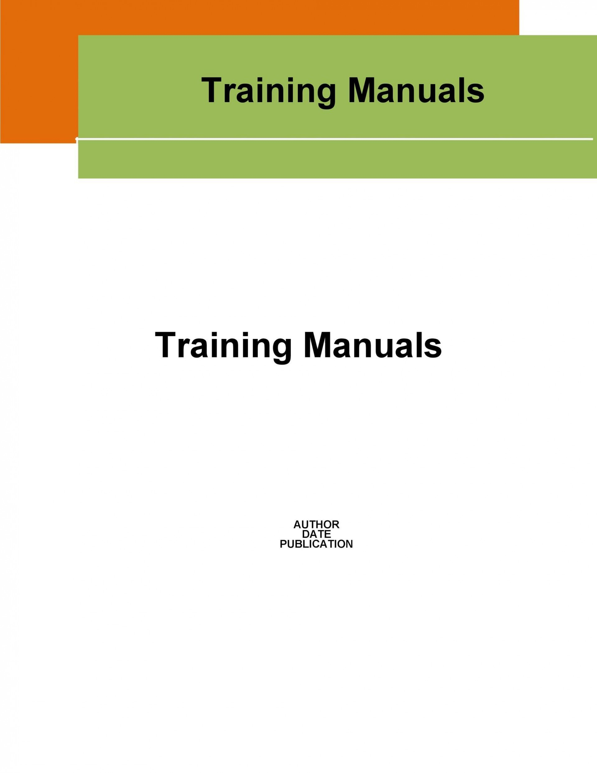 005 Rare Employee Training Manual Template Highest Clarity  New Hire Example1920