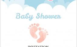 005 Rare Free Baby Shower Invitation Template Editable Highest Quality  Digital Microsoft Word