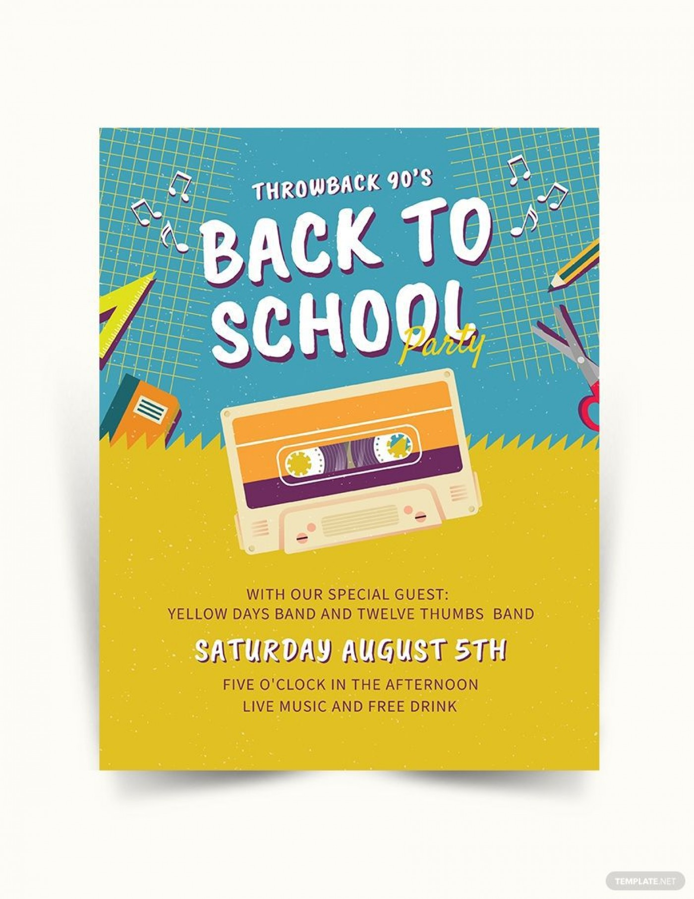 005 Rare Free Back To School Flyer Template Word Idea 1400