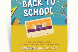 005 Rare Free Back To School Flyer Template Word Idea