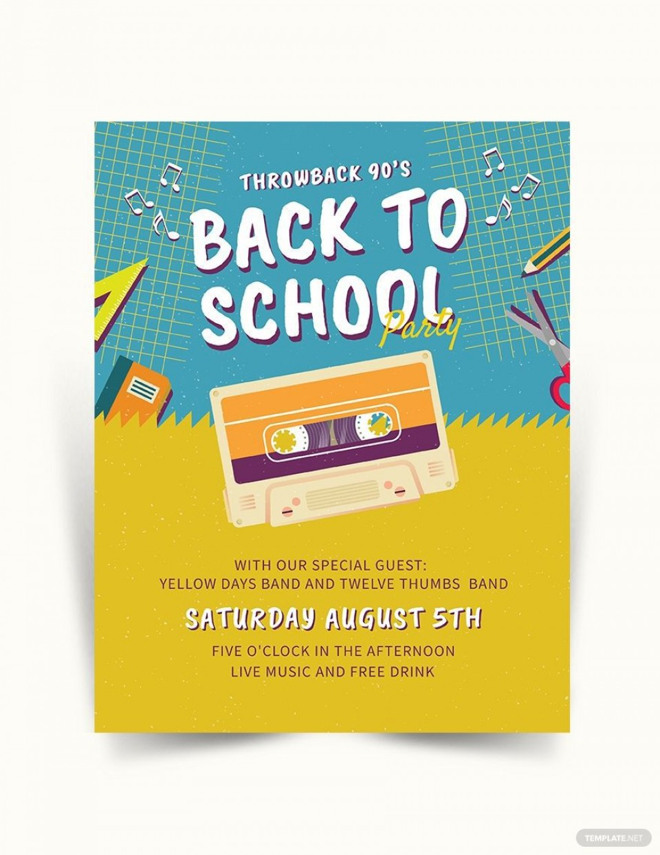 005 Rare Free Back To School Flyer Template Word Idea 960