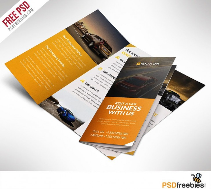 005 Rare Free Brochure Template Psd File Front And Back Example 728