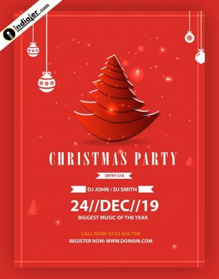 005 Rare Free Christma Poster Template Design  Uk Party Download Fair320