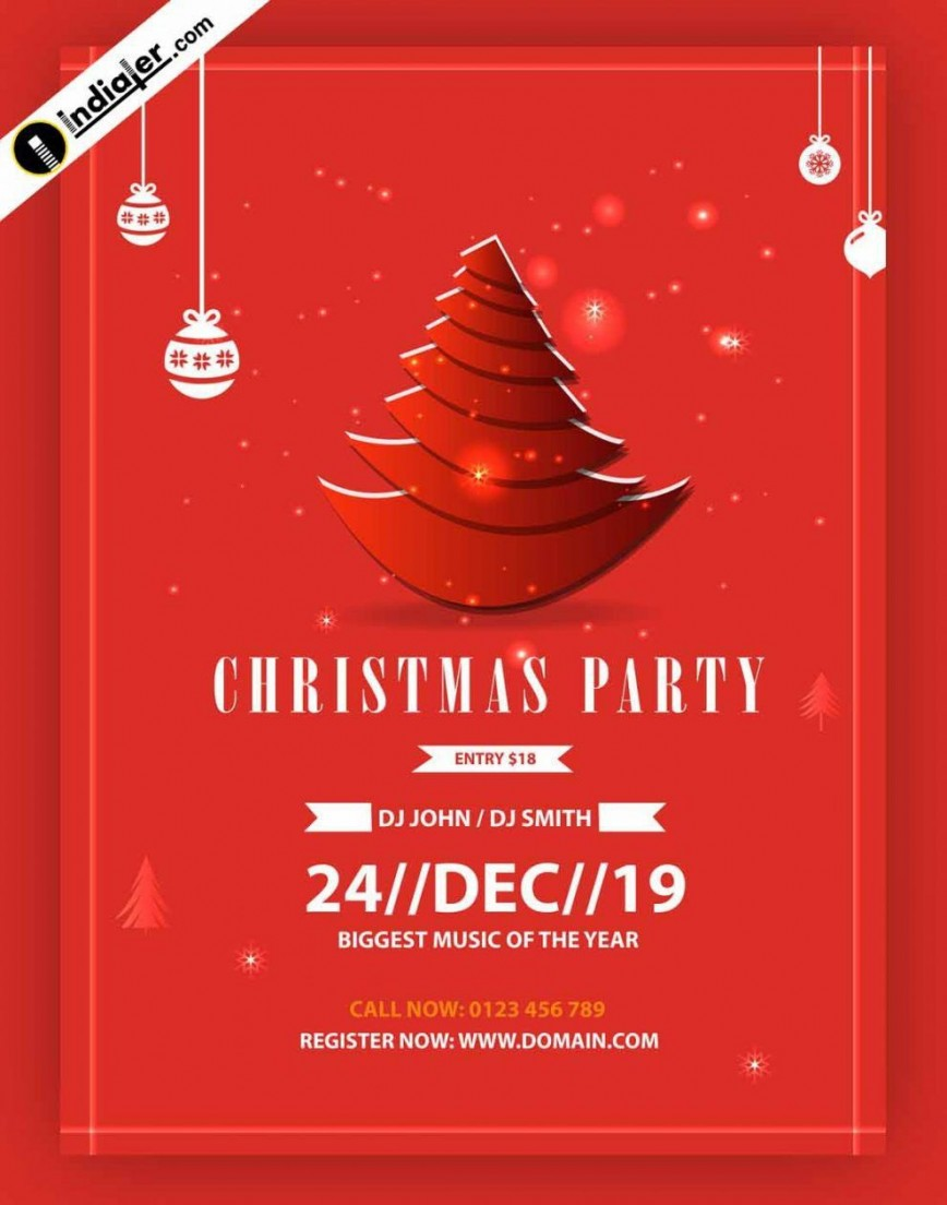 005 Rare Free Christma Poster Template Design  Uk Party Download Fair868