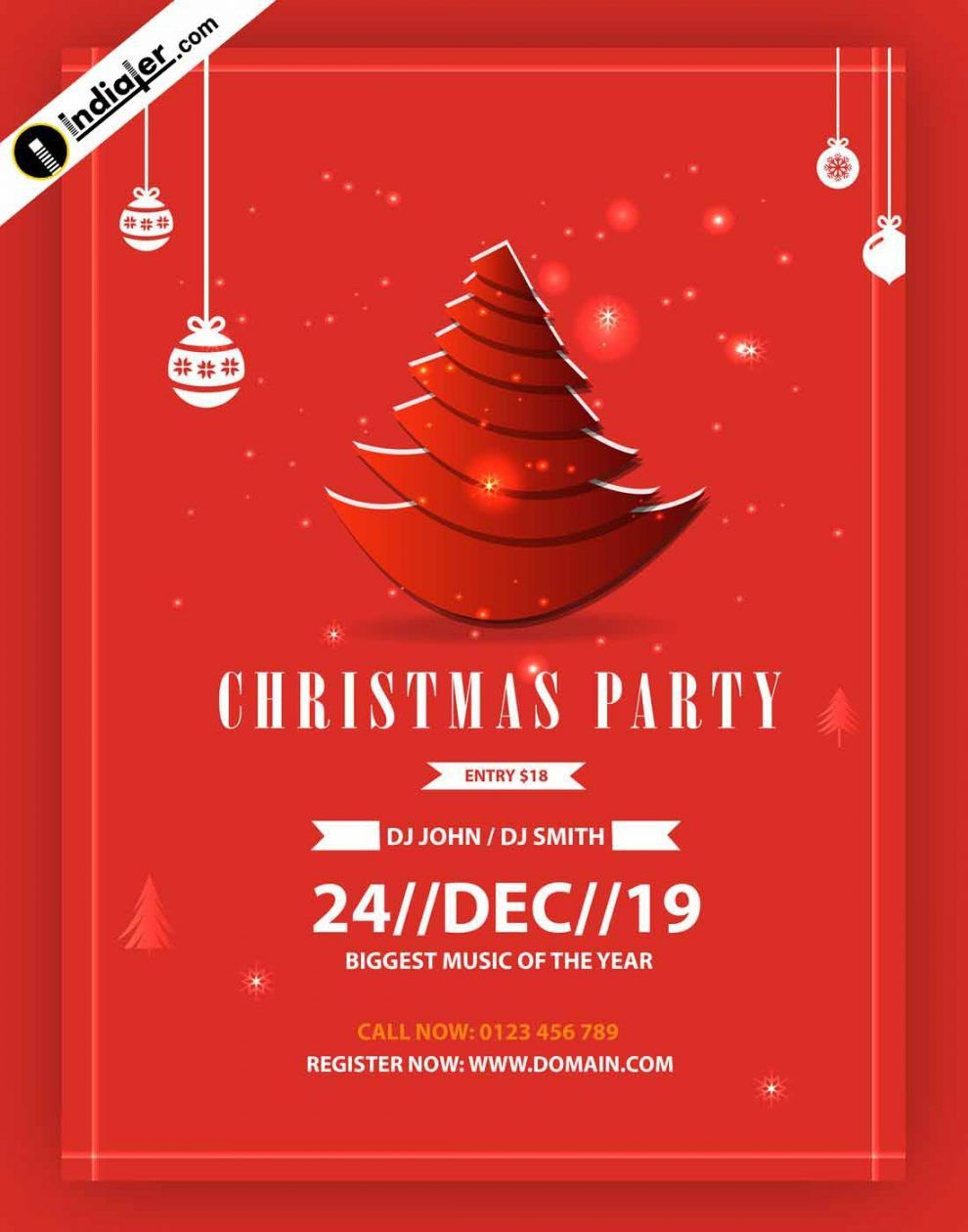005 Rare Free Christma Poster Template Design  Templates Psd Download WordFull