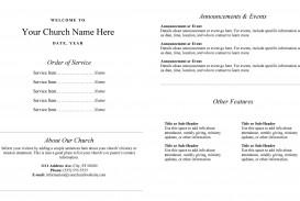 005 Rare Free Church Program Template Word Idea  Bulletin For