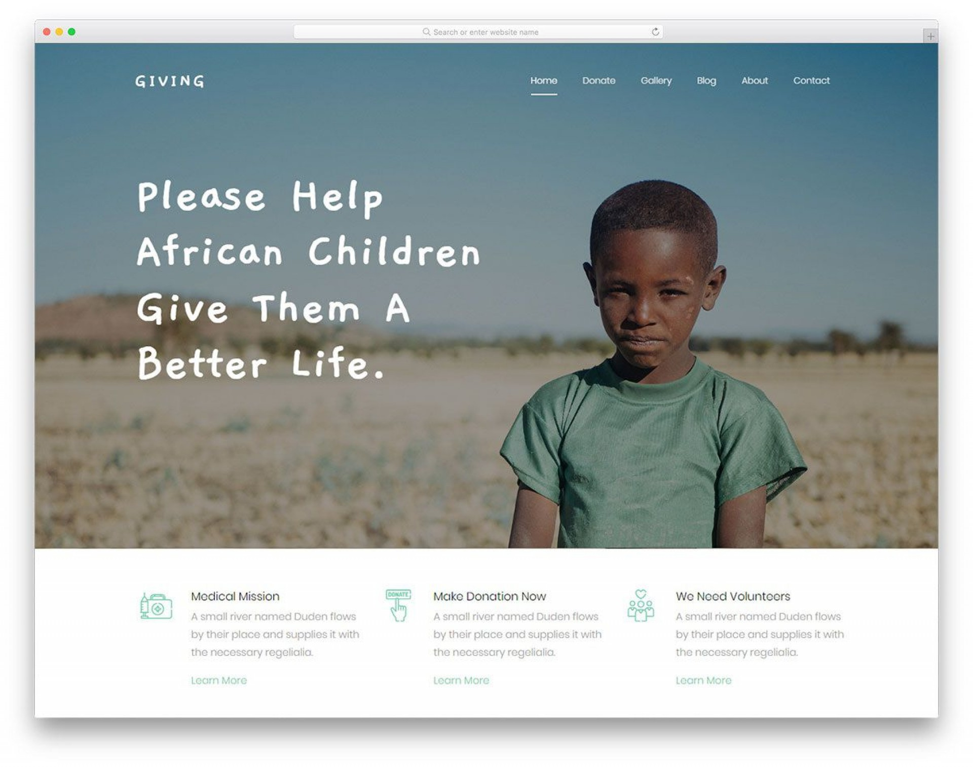 005 Rare Free Non Profit Website Template Idea  Templates Organization Charity1920