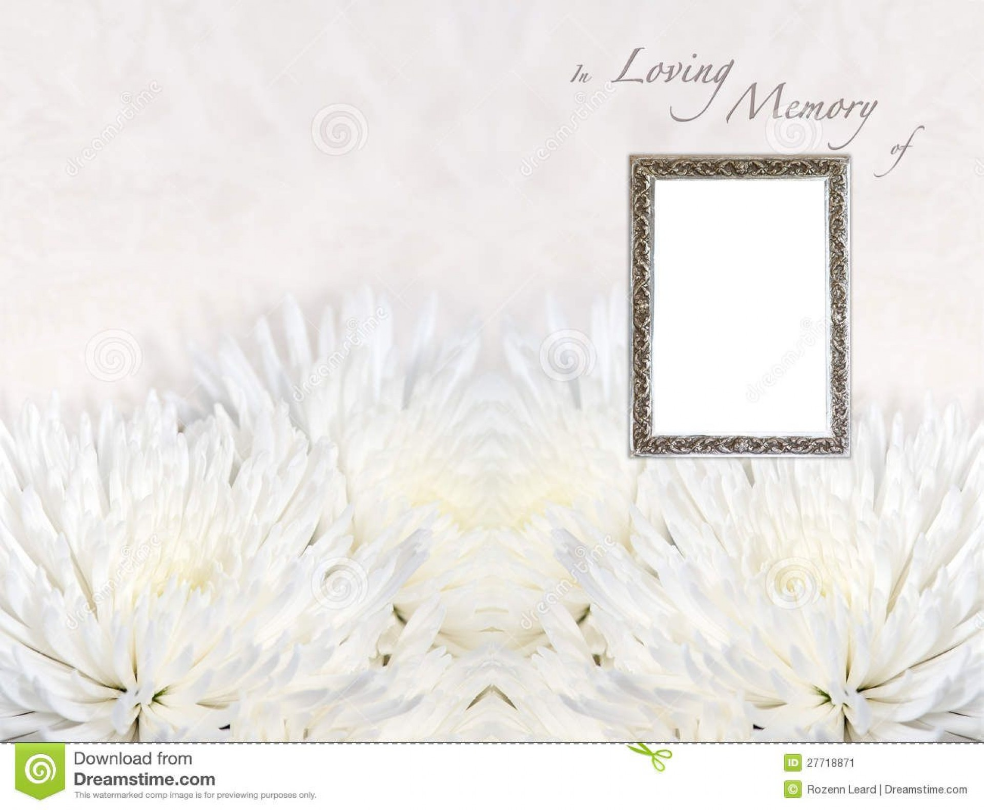 005 Rare In Loving Memory Powerpoint Template Free High Definition 1920