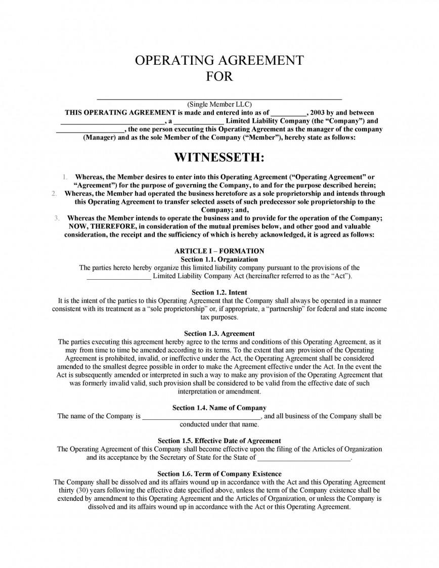 005 Rare Llc Partnership Agreement Template Design  Free Operating868