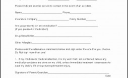 005 Rare Medical Release Form Template Design  Free Consent Uk For Minor