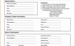 005 Rare New Customer Form Template Word Photo  Registration Account Feedback