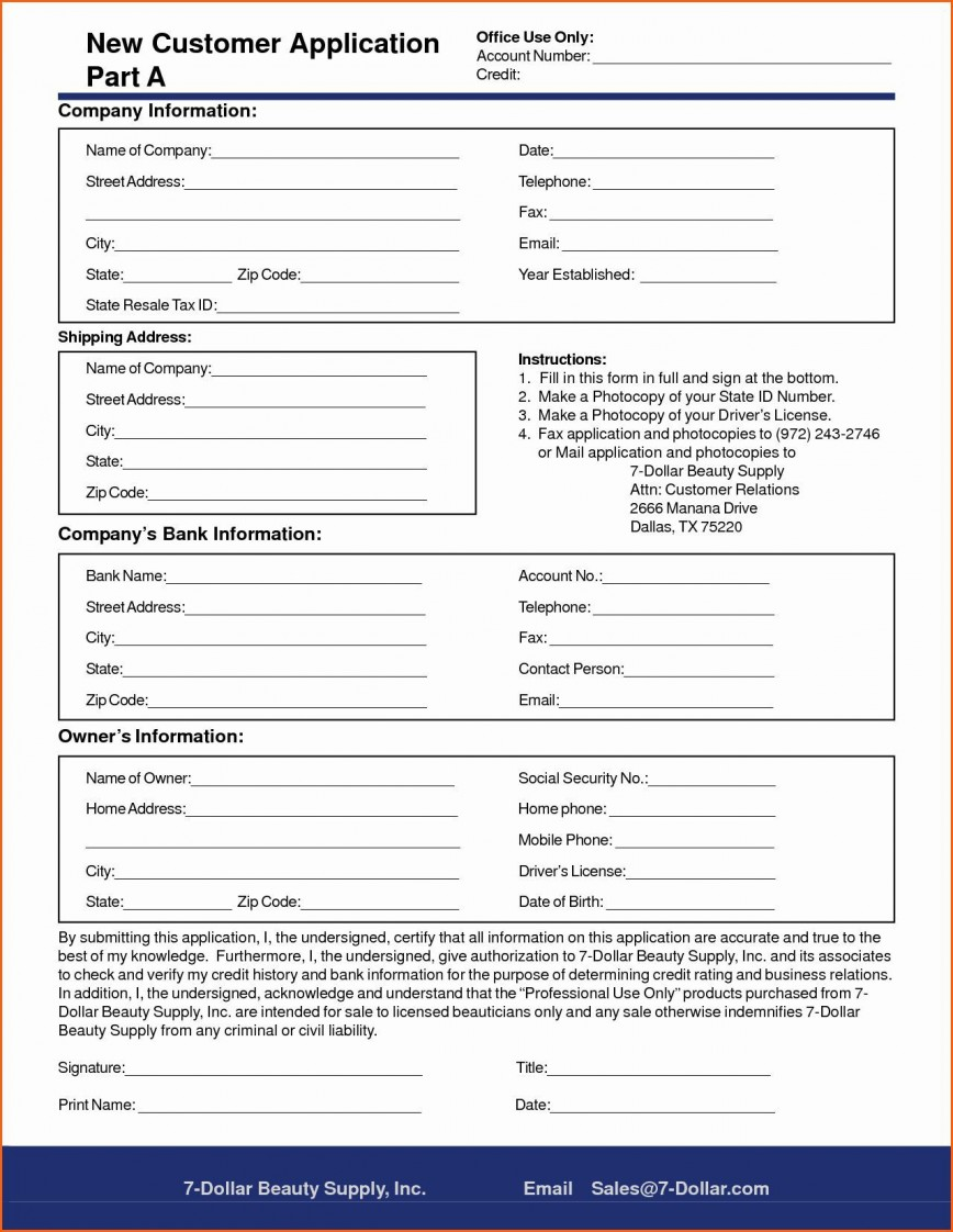 005 Rare New Customer Form Template Word Photo  Patient Registration User Request