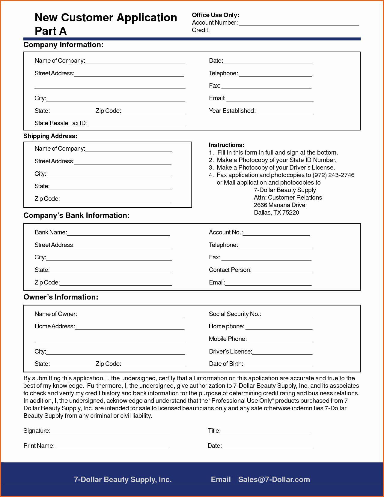 005 Rare New Customer Form Template Word Photo  Registration Account FeedbackFull