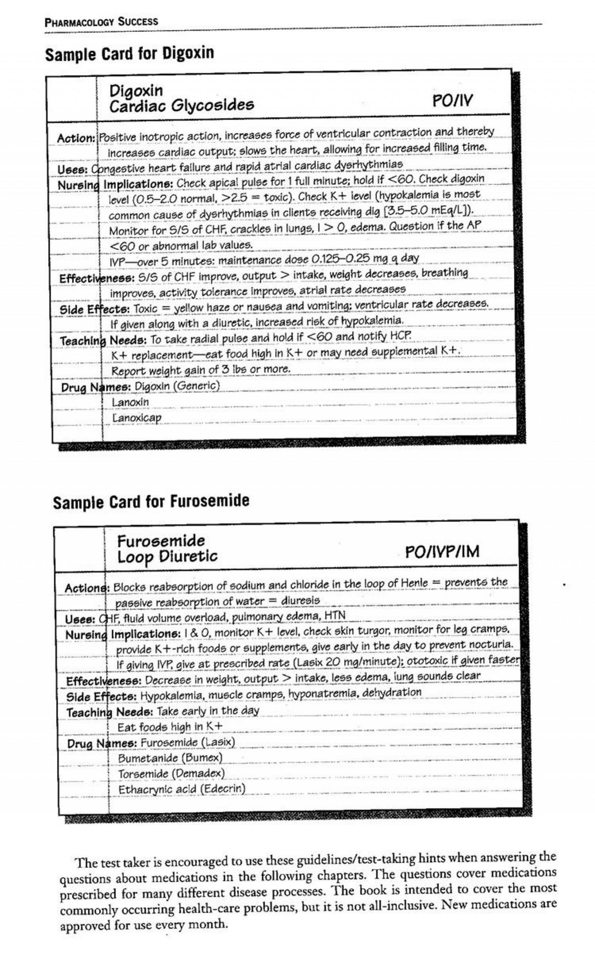 005 Rare Nursing Drug Card Template High Resolution  School Download Printable1920