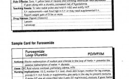 005 Rare Nursing Drug Card Template High Resolution  School Download Printable