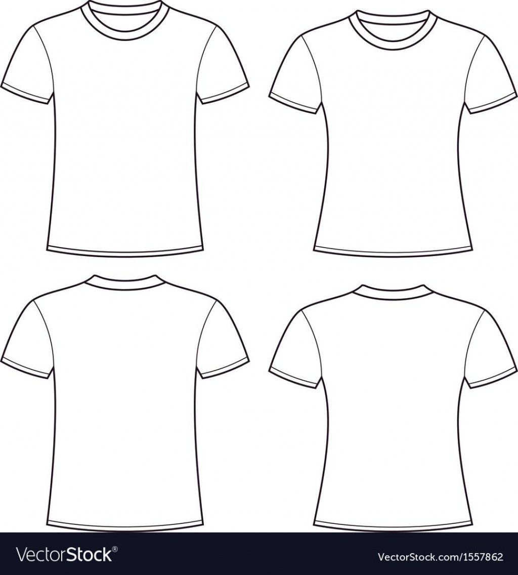 005 Rare Plain T Shirt Template Picture  Blank Front And BackLarge