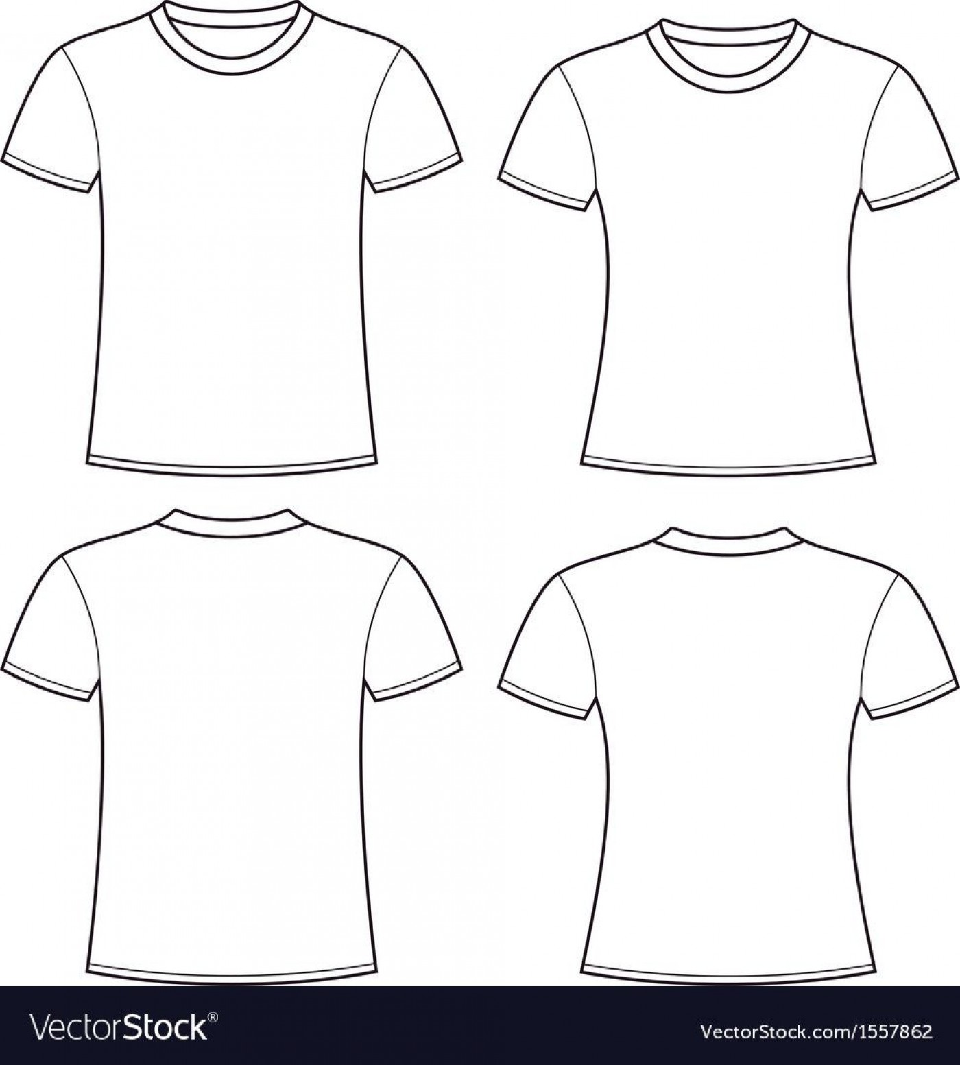 005 Rare Plain T Shirt Template Picture  Blank Front And Back1400