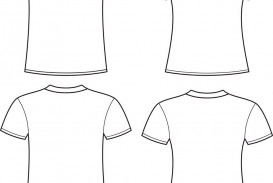 005 Rare Plain T Shirt Template Picture  Blank Front And Back