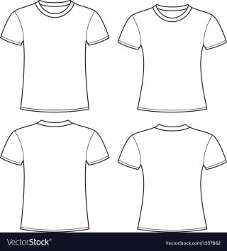 005 Rare Plain T Shirt Template Picture  Blank Front And Back320