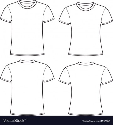 005 Rare Plain T Shirt Template Picture  Blank Front And Back360