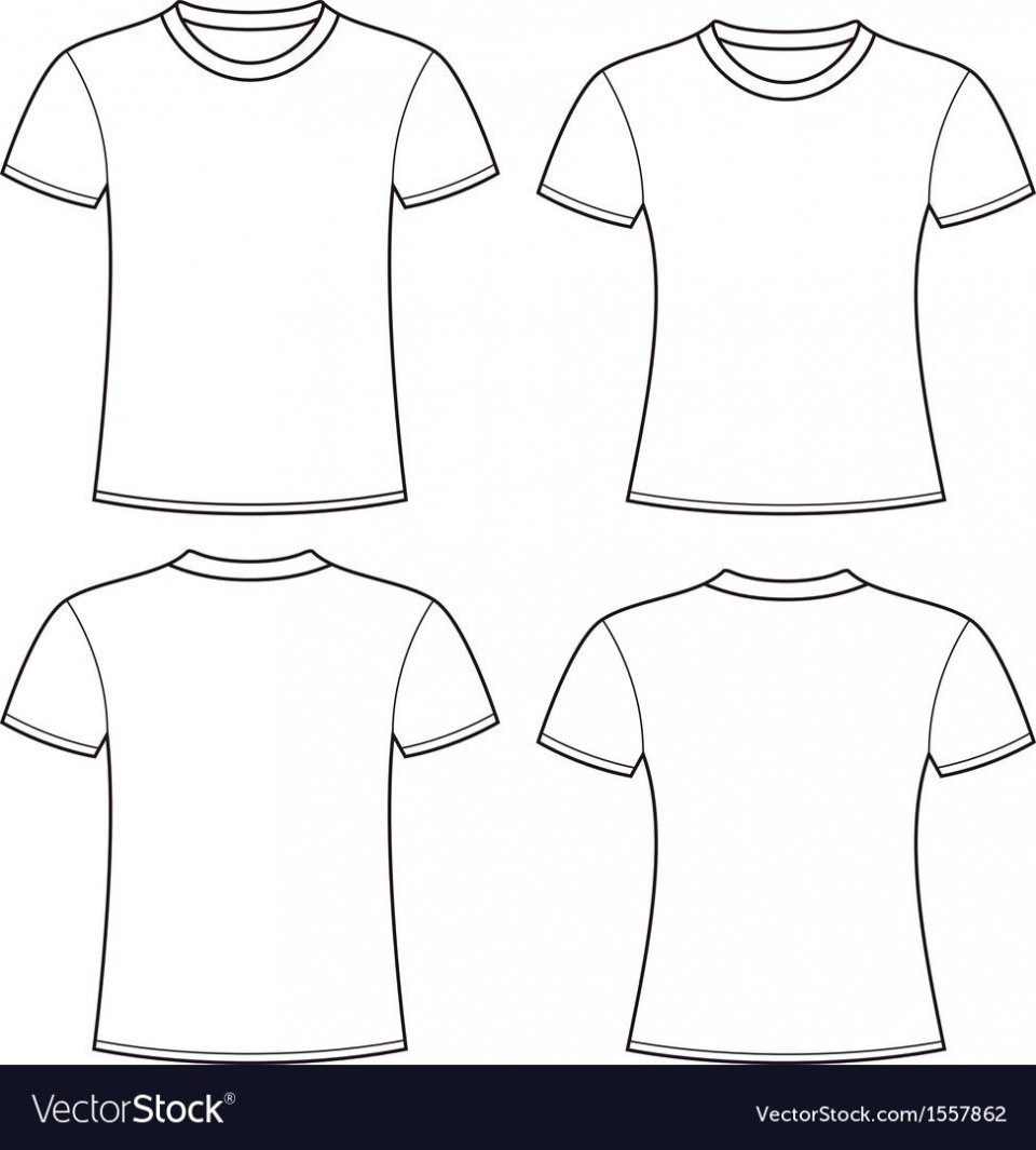 005 Rare Plain T Shirt Template Picture  Blank Front And Back960