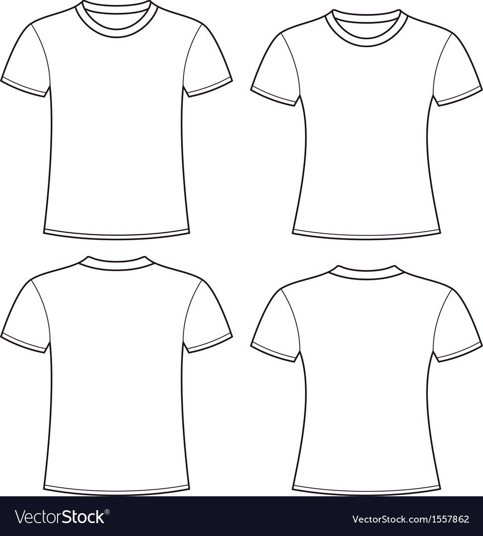 005 Rare Plain T Shirt Template Picture  Blank Front And BackFull