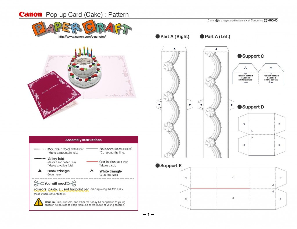 005 Rare Pop Up Card Template Idea  Templates Birthday Free Download Printable FlowerLarge