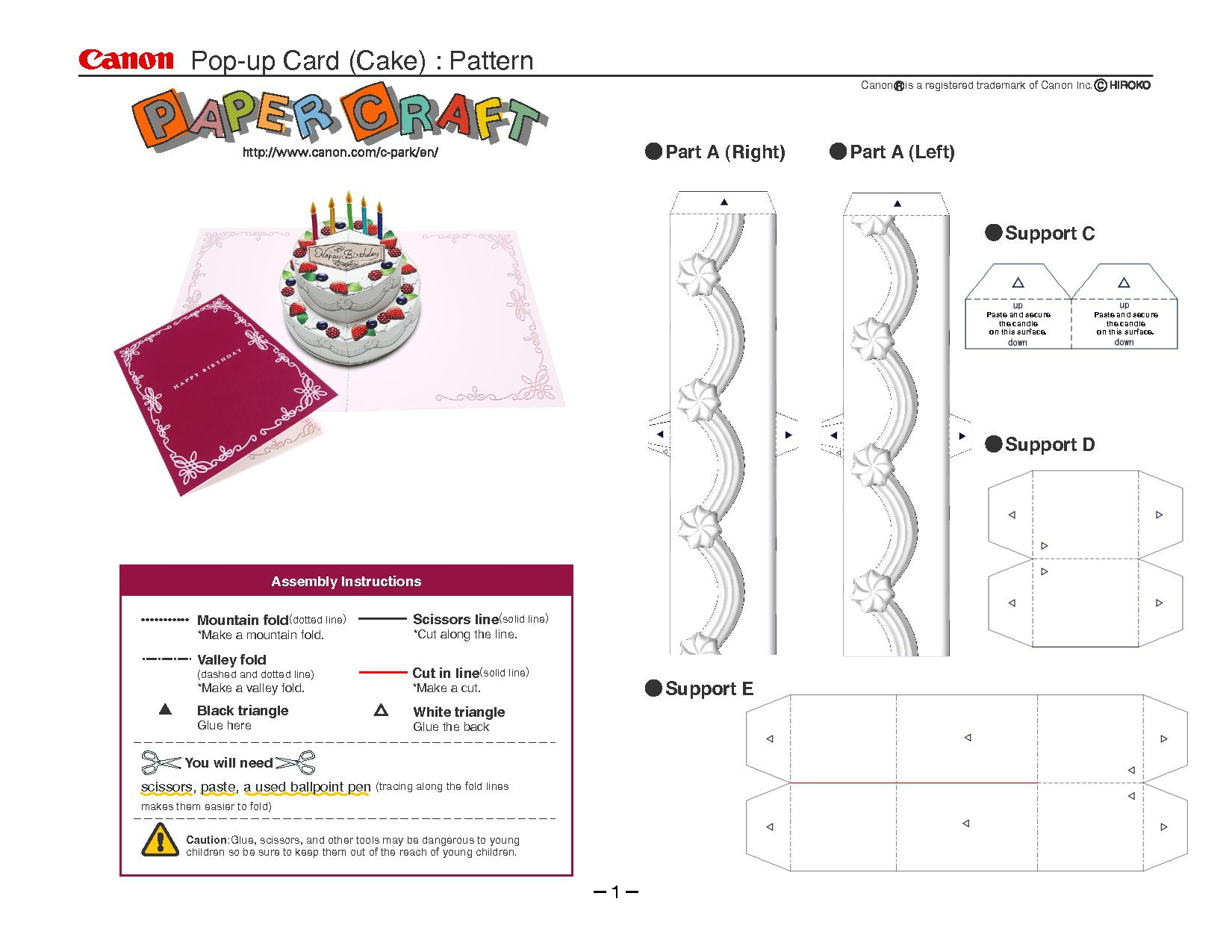 005 Rare Pop Up Card Template Idea  Templates Birthday Free Download Printable FlowerFull