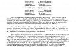 005 Rare Private Placement Memorandum Format Inspiration  Template Canada Form Uk