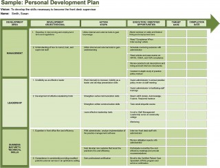 005 Rare Professional Development Plan Template For Employee High Definition  Example Sample320