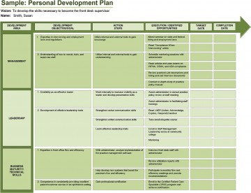 005 Rare Professional Development Plan Template For Employee High Definition  Example Sample360