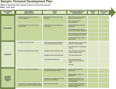 005 Rare Professional Development Plan Template For Employee High Definition  Example Sample480