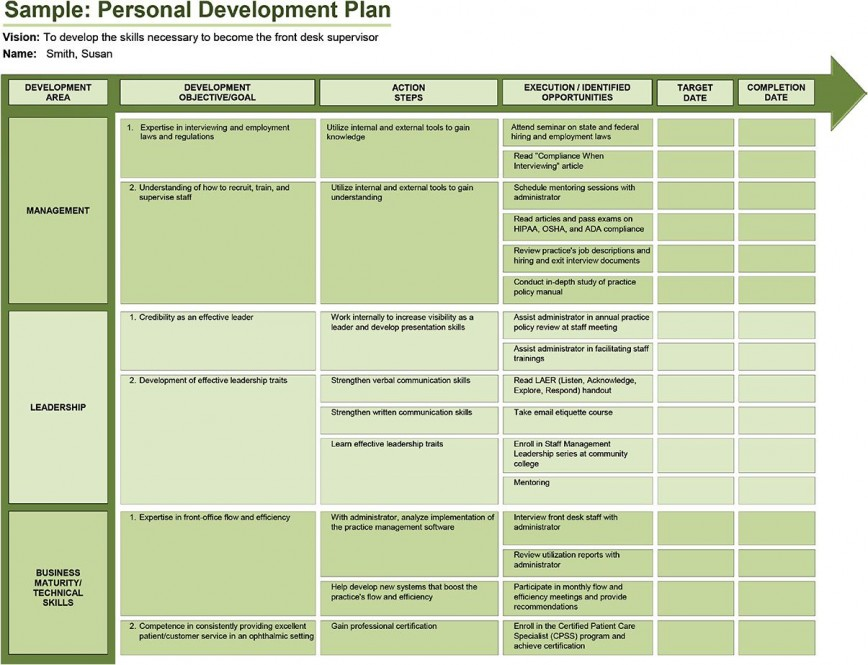 005 Rare Professional Development Plan Template For Employee High Definition  Example Sample868
