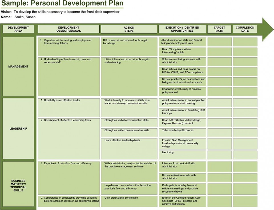 005 Rare Professional Development Plan Template For Employee High Definition  Example Sample960