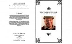 005 Rare Simple Funeral Program Template Free Image  Download