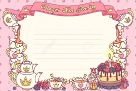 005 Rare Tea Party Invitation Template Image  Wording Vintage Free Sample