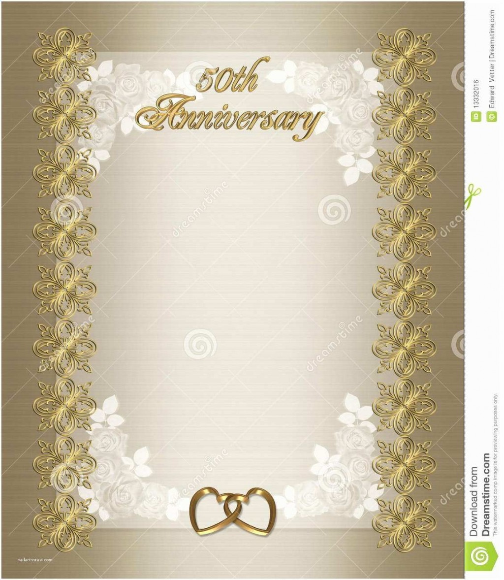 005 Remarkable 50th Anniversary Invitation Template Sample  Templates Wedding Free Download GoldenLarge