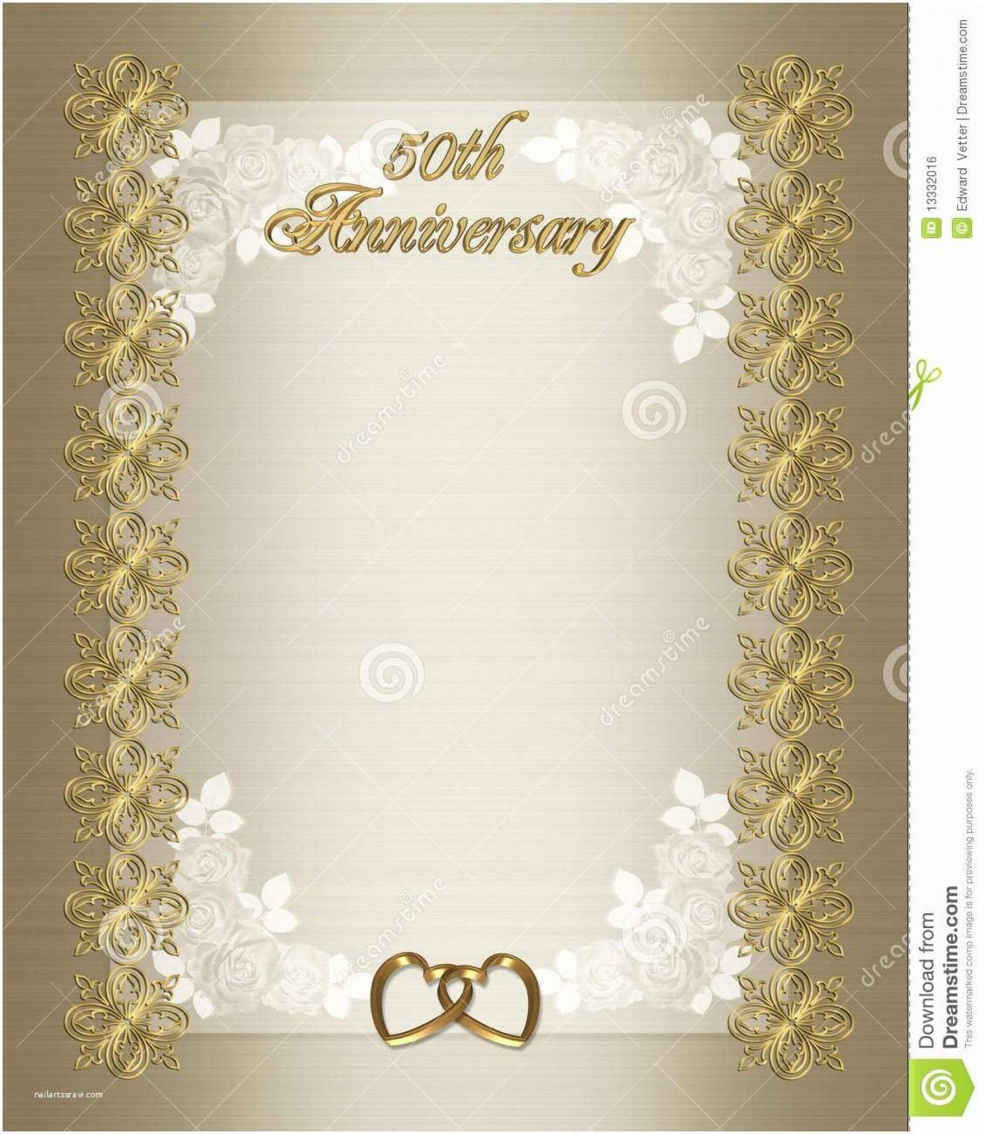005 Remarkable 50th Anniversary Invitation Template Sample  Templates Wedding Free Download Golden1920