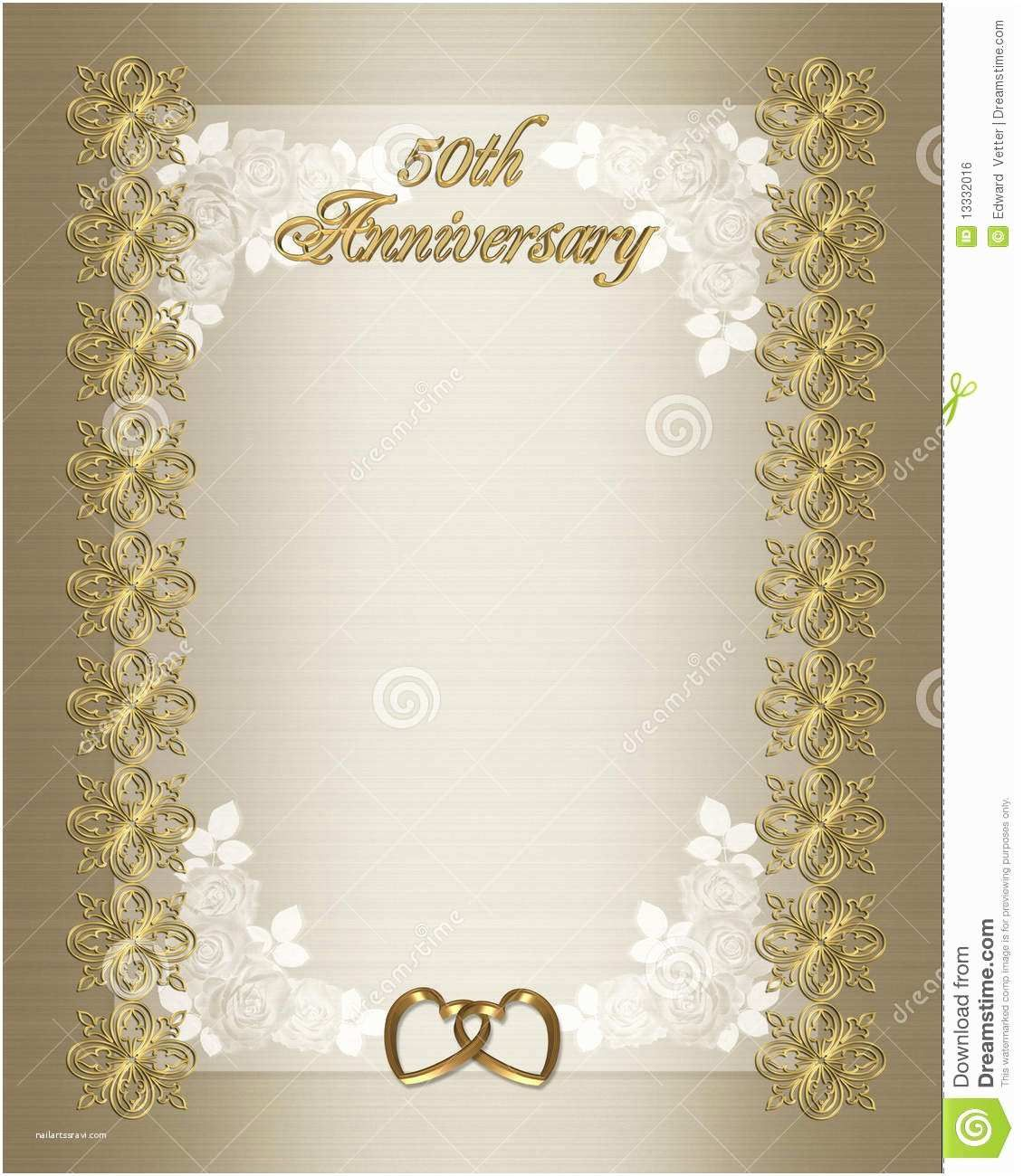 005 Remarkable 50th Anniversary Invitation Template Sample  Templates Wedding Free Download GoldenFull