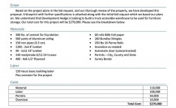005 Remarkable Construction Job Proposal Template Sample  Example