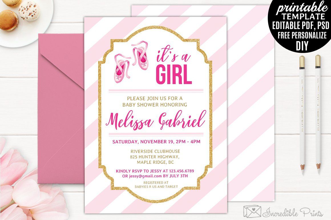005 Remarkable Diy Baby Shower Invitation Template Highest Clarity  Templates Diaper FreeFull