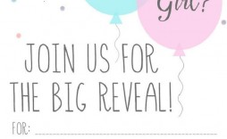 005 Remarkable Gender Reveal Invitation Template Highest Quality  Templates Party Free Printable Maker