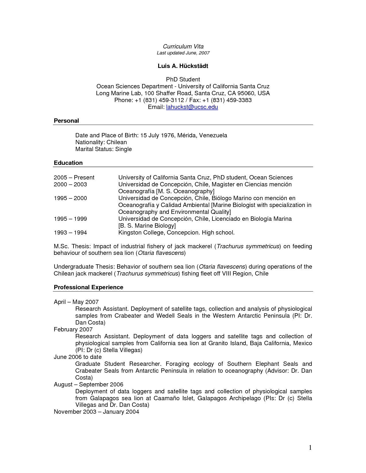 005 Remarkable Graduate School Curriculum Vitae Template Photo  For Application Resume FormatFull