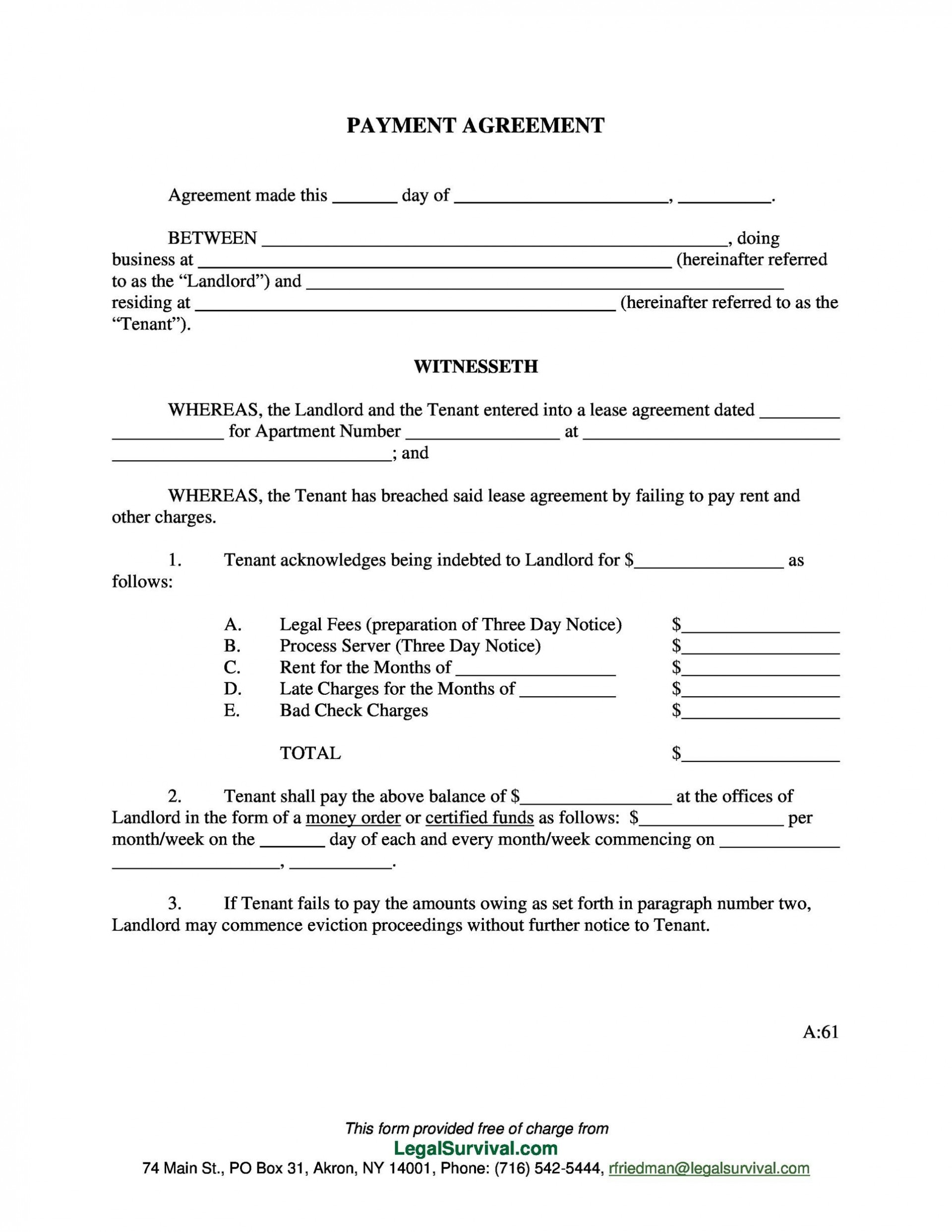 005 Remarkable Installment Payment Contract Template Sample  Agreement Free Car Word1920
