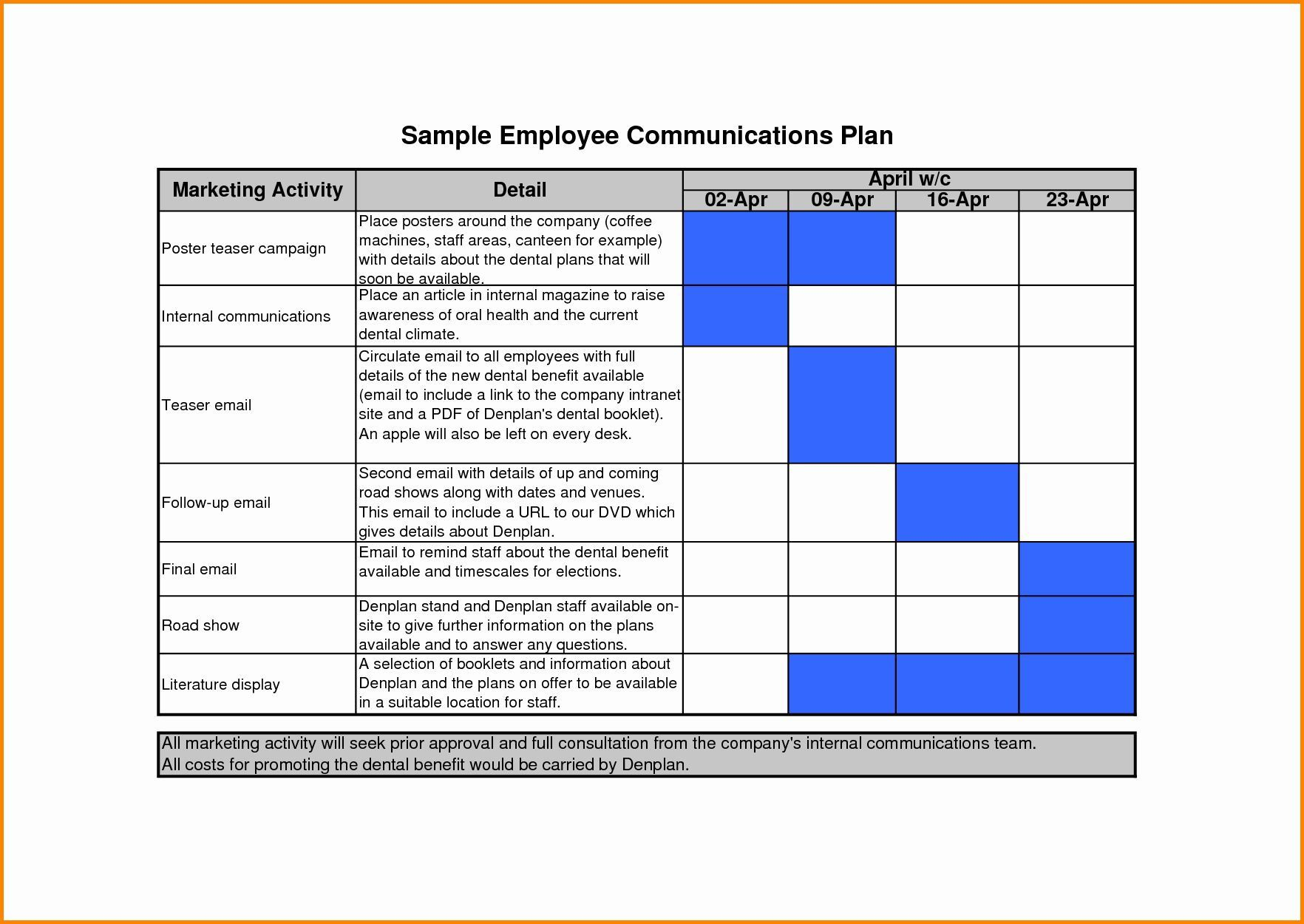 005 Remarkable Internal Communication Plan Template Concept  Free Pdf ExampleFull