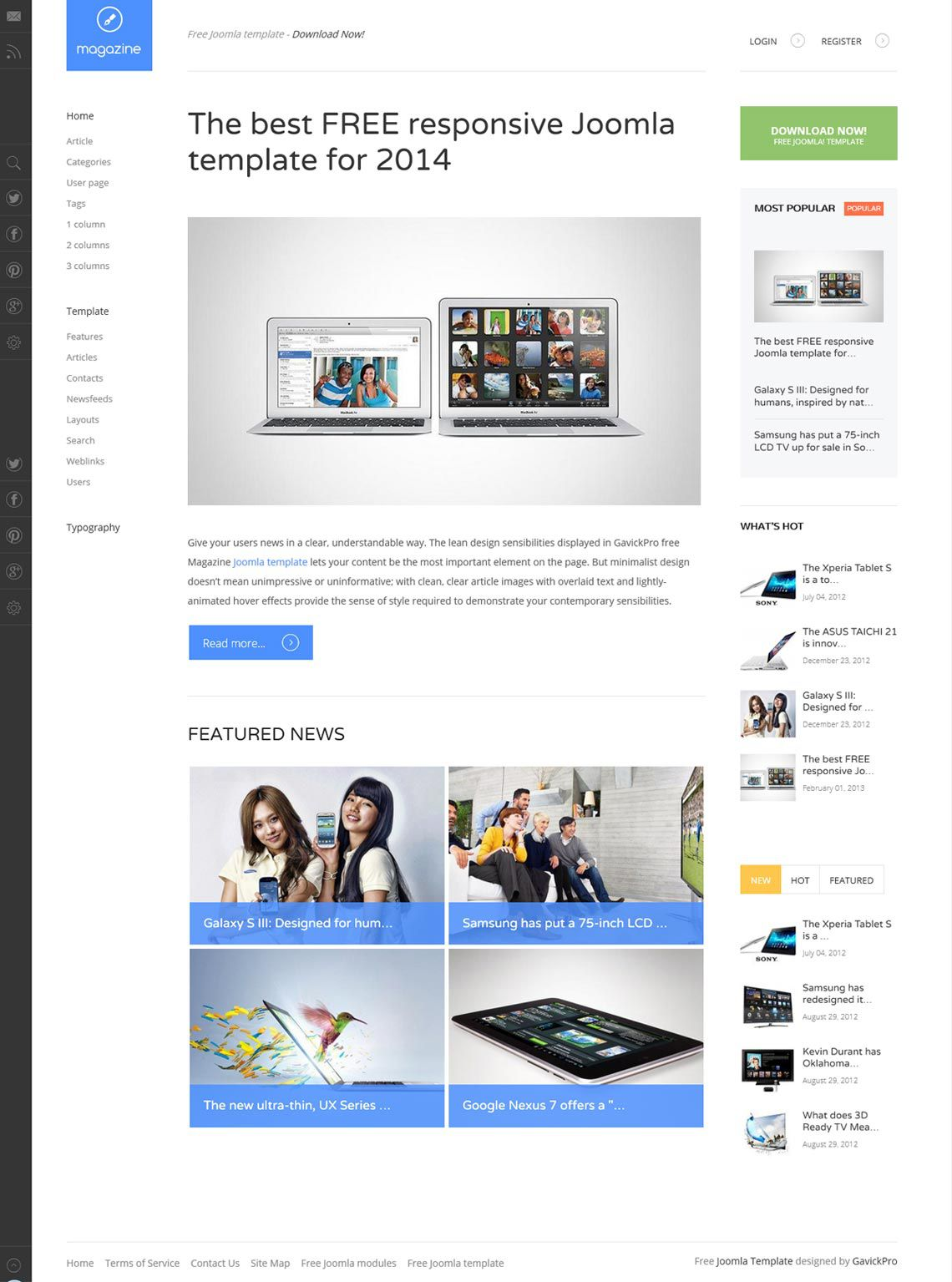 005 Remarkable Joomla Responsive Template Free Picture  3.0 Download Busines 3Full