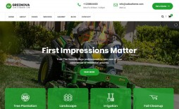 005 Remarkable Lawn Care Website Template Image